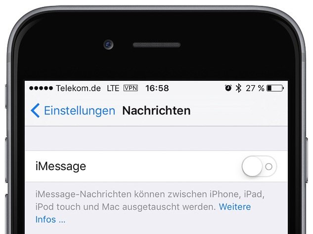 iPhone iMessage abmelden Problem SMS-Empfang 2