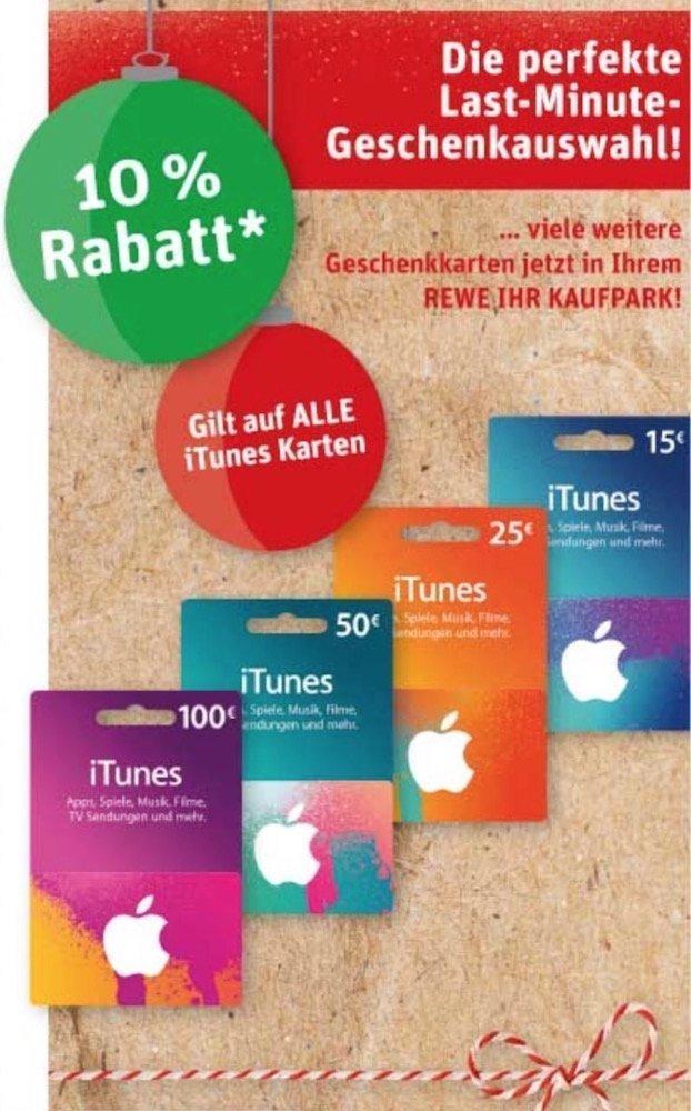 iTunes-Karten 10% Rabatt bei %22kaufpark:REWE%22