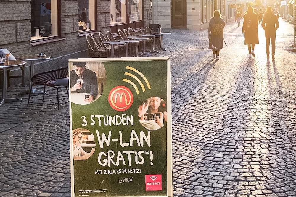 McDonald Mac Donald Mc Donalds Mac Donalds WLAN Router kostenlos Internet gratis Wifi 2