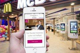McDonald Mac Donald Mc Donalds Mac Donalds WLAN Router kostenlos Internet gratis Wifi 4