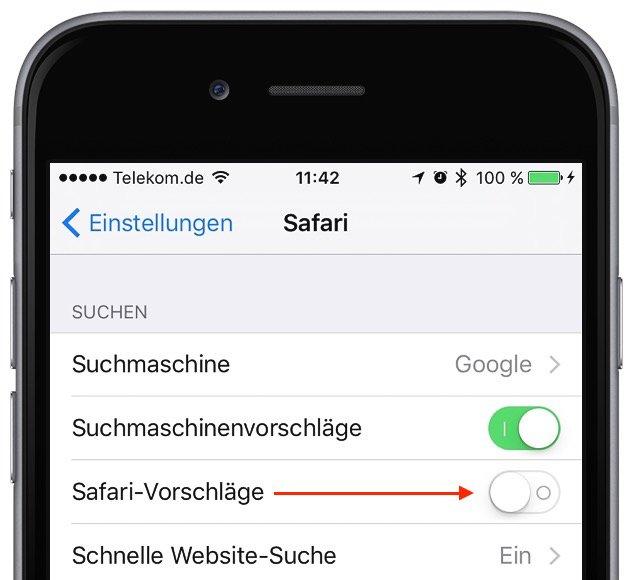 Safari am iPhone stürzt ab Erste Hilfe 1
