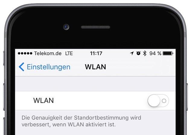 iPhone Strom sparen an WLAN Funktion 1