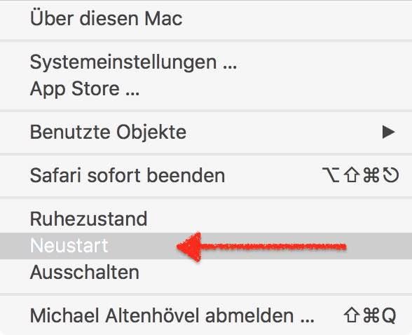 Möchten Sie den Computer jetzt neu starten Mac umgehen 3