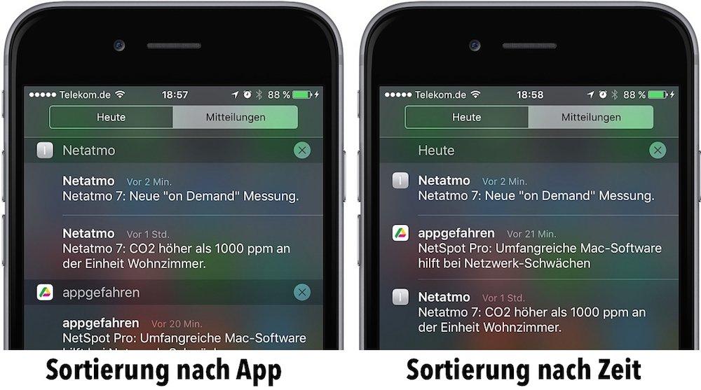 Mitteilungszentrale iPhone aufräumen Tipps Tricks 6