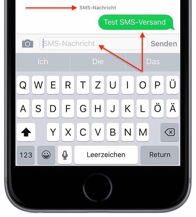 iPhone-Nachricht als SMS senden 2