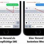 iPhone-Nachricht als SMS senden BB klein