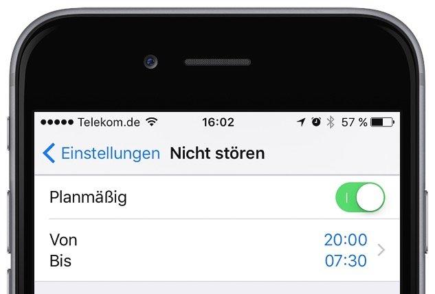 iPhone Nicht stören Flugmodus einrichten 3