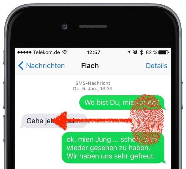 iPhone SMS iMessage Übertragung Uhrzeit anzeigen 3