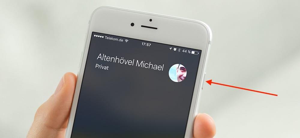 iPhone Telefon Anruf Ablehnen Knopf Button fehlt 3