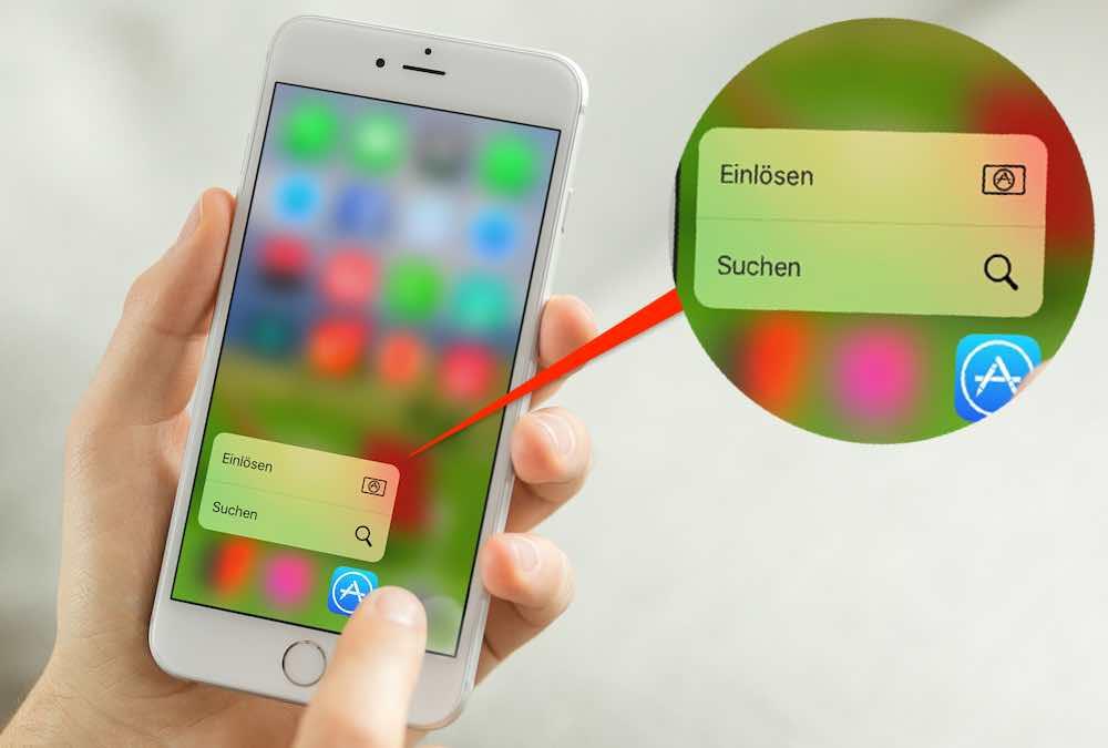 iTunes Karte Guthaben 3D Touch einlösen gutschreiben BB