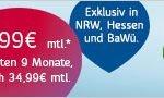 Wenn Sie schon immer mal mit sagenhaften 120 Mbit/s ins Internet wollten, so können Sie das jetzt ab 24,99 EUR: Top-Angebot von Unity Media!