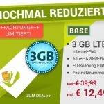 """Ab sofort und nur für kurze Zeit erhalten Sieden Base-Tarif """"Blue All-in L"""" als SIM-Only (also ohne vergünstigtes Smartphone) für nur noch 12,49 EUR statt für 39,99 EUR!"""