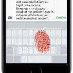 """Führen Sie den Finger auf die Tastatur, und drücken Sie an beliebiger Stelle der Tastatur fest auf das Display (""""Force Touch""""), um 3D Touch zu aktivieren. Sie sehen, dass die Buchstaben auf der Tastatur ausgeblendet werden und der ganze Tastatur-Bereich zum Trackpad für Ihren Finger wird:"""