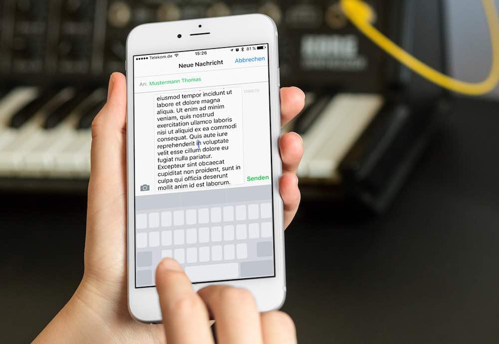 """Mit der Veröffentlichung von iPhone 6s und 6s plus hat Apple die 3D Touch-Funktionalität etabliert. """"3D Touch"""" bedeutet, dass Sie durch einen festen Druck auf das Display spezielle Funktionen nutzen und Aktionen auslösen können. Eine der 3D Touch-Funktionen ist für das besonders einfache Korrigieren von Text gedacht."""