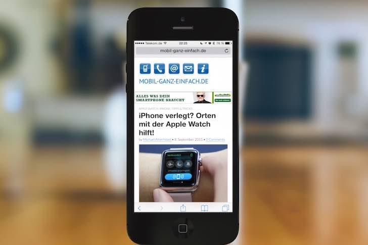 Tippen Sie den gewünschten Favoriten an, und drehen Sie das iPhone wieder ins Hochformat: