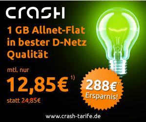 Mit der AllNet-Spar-Flat ist der Telefonie- und Surfspaß mit 1GB Daten im D-Netz vorprogrammiert!Nur12,85 EUR/Monat (statt für 24,85 EUR).