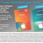 Noch bis Samstag, 07.05.2016, schenkt EDEKA Ihnen beim Kauf einer 25 EUR und/oder 50 EUR- iTunes-Karte 20% Guthaben: