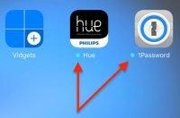 """Sie erkennen, ob eine App (automatisch oder """"von Hand"""") aktualisiert wurde, daran, dass neben dem App-Icon ein kleiner blauer Punkt dargestellt wird:"""