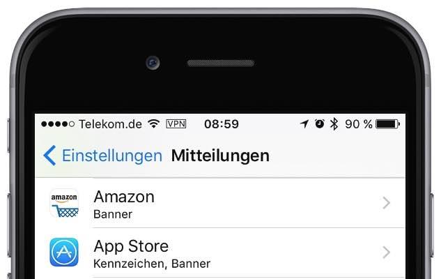 """Wenn Sie in der App """"Einstellungen"""" unter """"Mitteilungen"""" bei """"App Store"""" die Option """"Mitteilungen erlauben"""" aktiviert haben, dann werden Sie in der Mitteilungszentrale informiert, wenn Ihr iPhone automatisch ein Update installiert hat"""