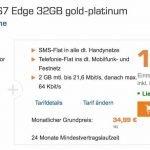 """Das Samsung Galaxy S7 Edge inkl. dem D-Netz-Tarif """"real Allnet"""" kostet nur 34,99 EUR/Monat bei einem Gerätepreis von 1 EUR für das S7! Günstiger kommen Sie kaum noch an das neueste und beste Galaxy aller Zeiten!"""