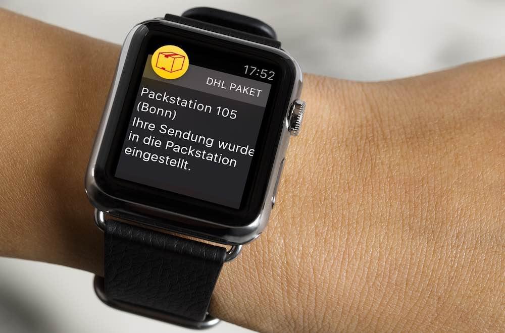 Dank des Apple Watch-Supports können Sie an der Packstation auch ganz bequem die mTAN von der Apple-Uhr ablesen, ohne Ihr iPhone in die Hand nehmen zu müssen: