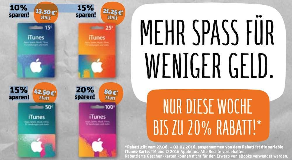 iTunes Karten Rabatt KW 26 REWE