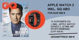 """Die neue Apple Watch """"Series 2"""" kostet beim Hersteller 449 EUR. Hier erhalten Sie die Uhr für 389 EUR! Ein Jahres-Abo der Männerzeitschrift GQ inklusive!"""