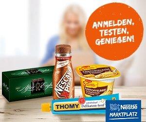 Nestle Marktplatz Produktproben Produkttestes Gewinnspiele