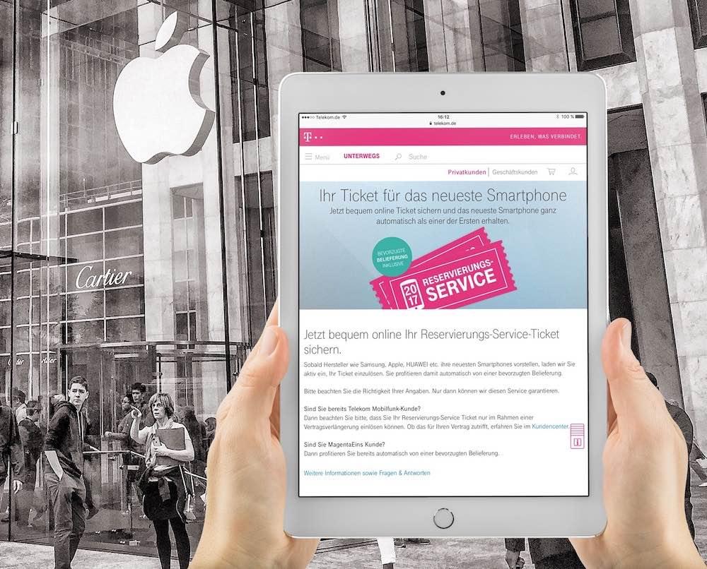 Jetzt schon das  iPhone 8 reservieren: Über den Reservierungs-Service der Telekom werden Sie als einer der ersten mit dem Apple -Smartphone beliefert!
