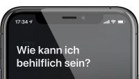 """iPhone zeigt nach Hey Siri-Aufruf die Frage """"Wie kann ich behilflich sein?"""""""