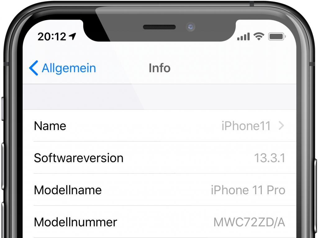 iPhone-Einstellungen: Name ändern