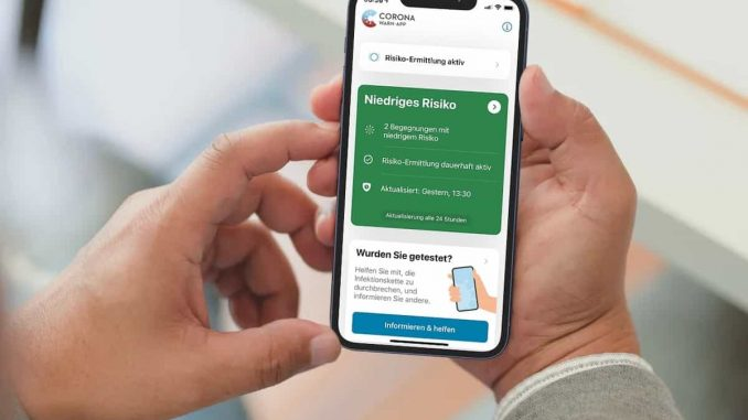 Corona Warn-App: Bedeutung der Farbe grün