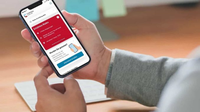 Corona Warn-App: Bedeutung der Farbe rot